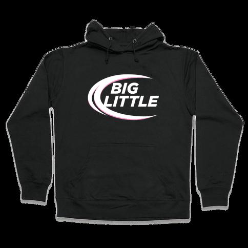 Big Little (Beer Parody Dark) Hooded Sweatshirt