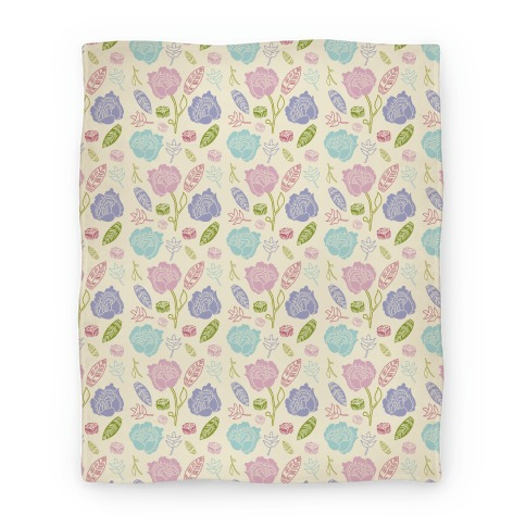 Floral and Leaves Pattern Blanket
