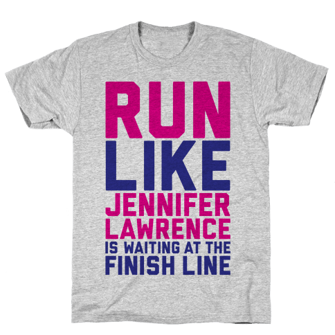 Run For Jennifer Lawrence Mens T-Shirt