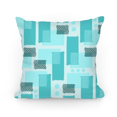 Teal Geometric Pattern Pillow