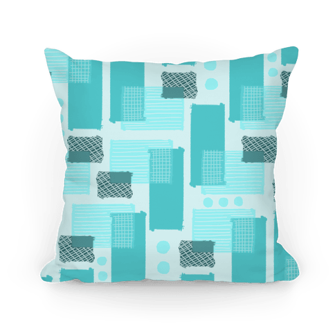 Teal Geometric Pattern Pillow