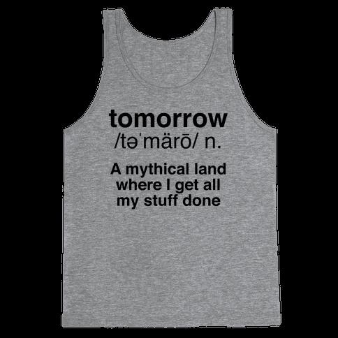 Tomorrow Definition