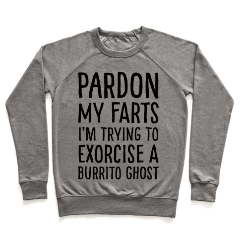 Pardon My Farts I'm Trying to Exorcise a Burrito Ghost Pullover