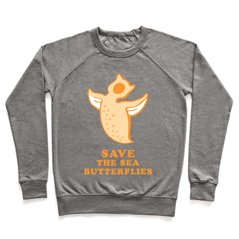 Save The Sea Butterflies Pullover