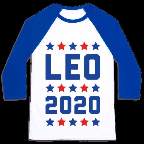 Vote Leo 2020 Parody Baseball Tee