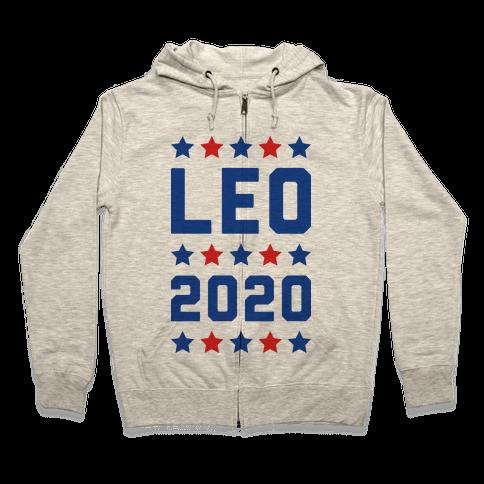 Vote Leo 2020 Parody Zip Hoodie