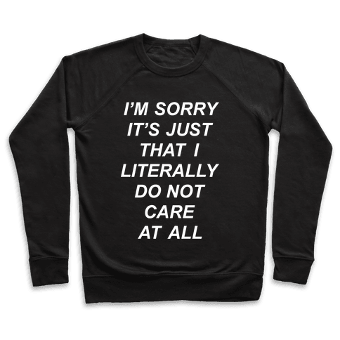 I Don't Care Pullover