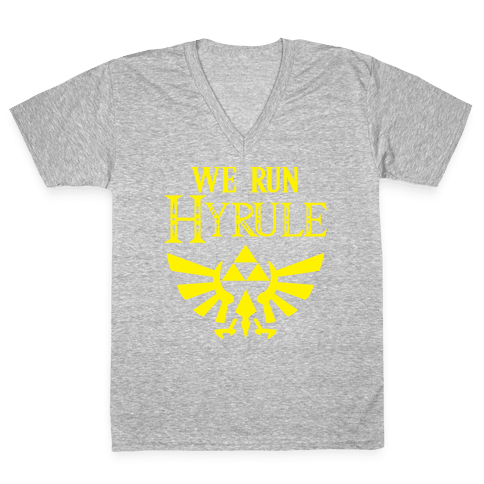We Run Hyrule V-Neck Tee Shirt