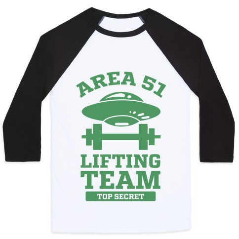 Area 51 Lifting Team Baseball Tee
