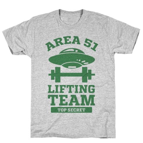 Area 51 Lifting Team Mens T-Shirt