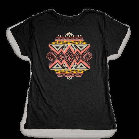 Aztec Mandala Womens T-Shirt