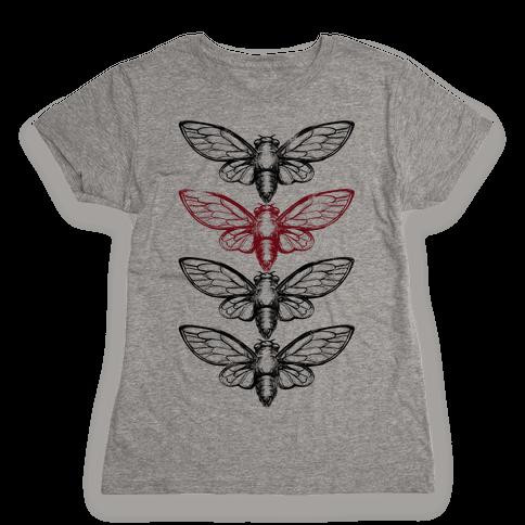 4 Cicadas Womens T-Shirt