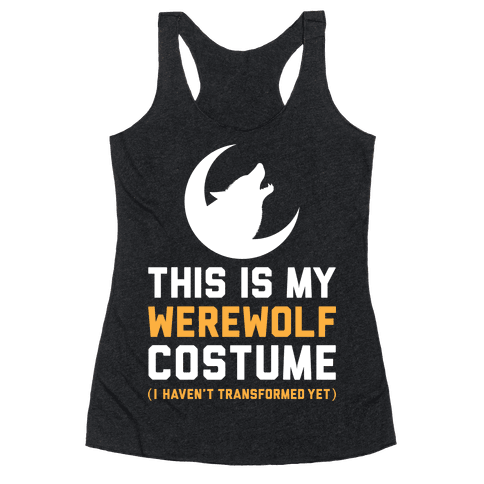 Werewolf Costume Racerback Tank Top