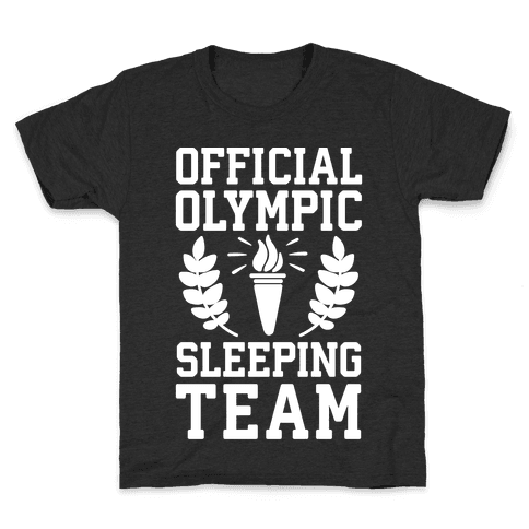 Official Olympic Sleeping Team Kids T-Shirt