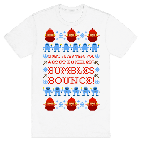 Yukon Cornelius and Bumble Ugly Sweater Mens T-Shirt