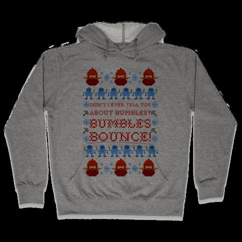 Yukon Cornelius and Bumble Ugly Sweater Hooded Sweatshirt
