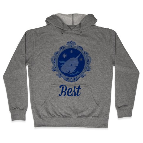 Narwhal Cameo Hooded Sweatshirt