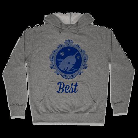 Narwhal Cameo Hooded Sweatshirt