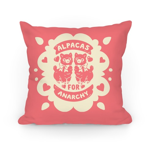 Alpacas For Anarchy Pillow