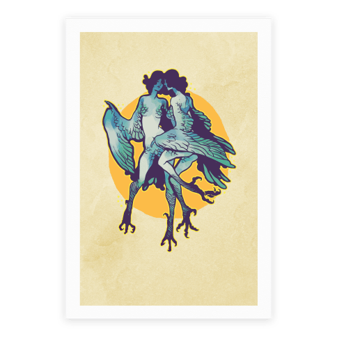 Harpy Monster Girls Poster