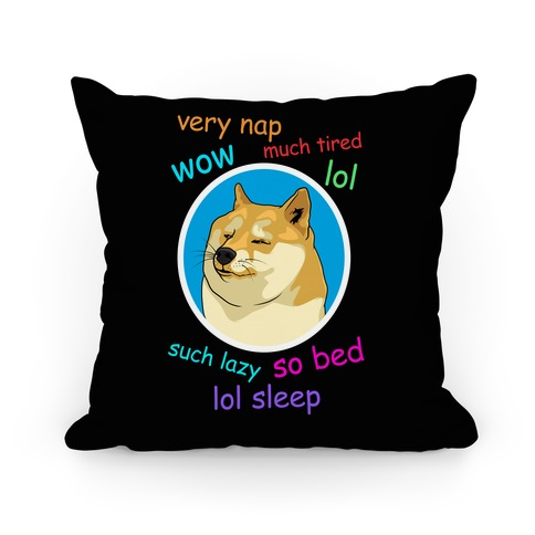 Nap Doge Pillow