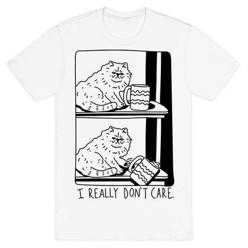I Really Don't Care Cat Mens T-Shirt