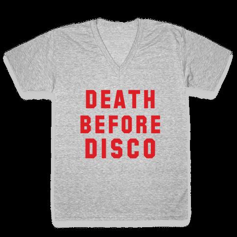 Death Before Disco V-Neck Tee Shirt
