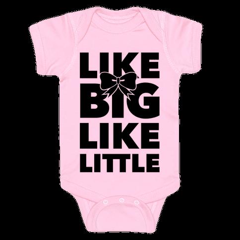 Like Big Like Little Baby Onesy
