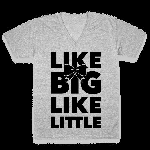Like Big Like Little V-Neck Tee Shirt