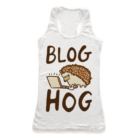 Blog Hog Racerback Tank Top