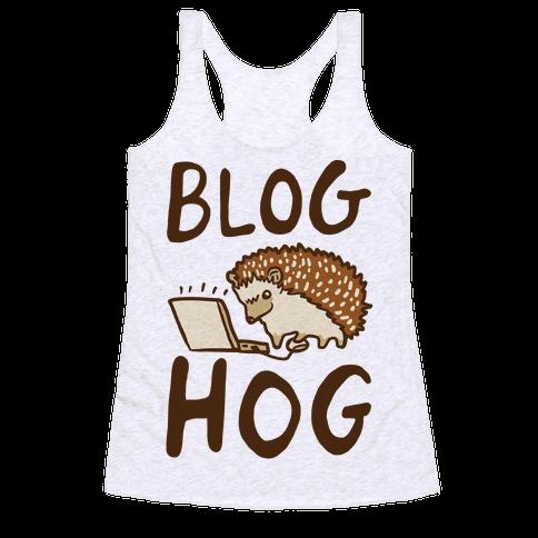 Blog Hog Racerback Tank Top