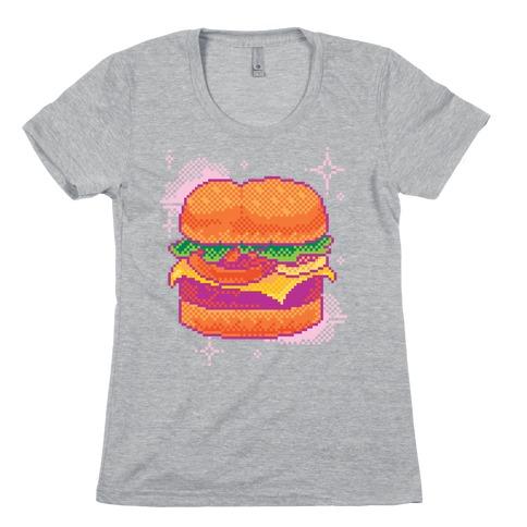 Pixel Burger Womens T-Shirt