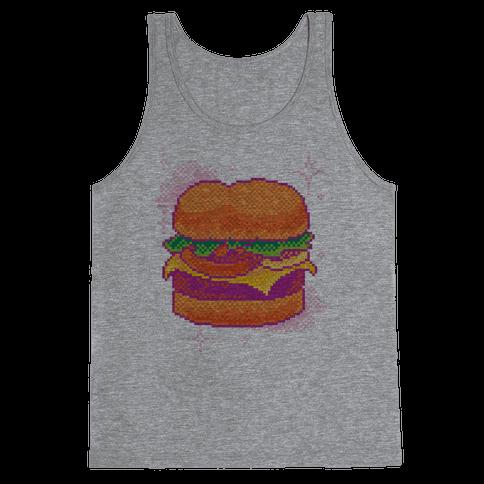 Pixel Burger Tank Top