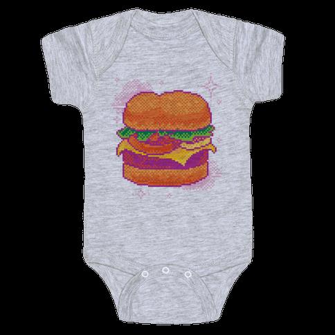 Pixel Burger Baby Onesy