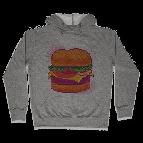 Pixel Burger Hooded Sweatshirt