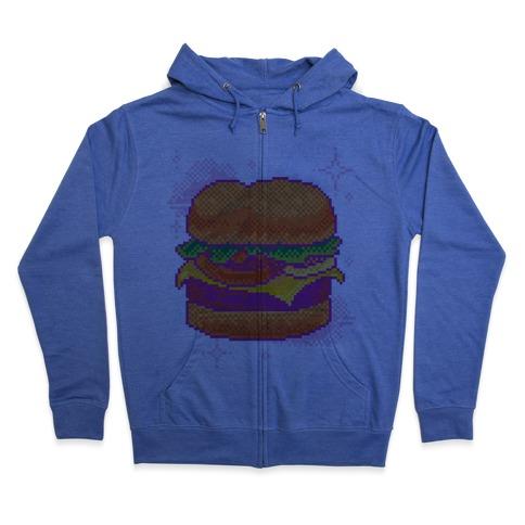 Pixel Burger Zip Hoodie