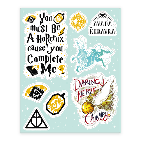 Wizard School  Sticker/Decal Sheet