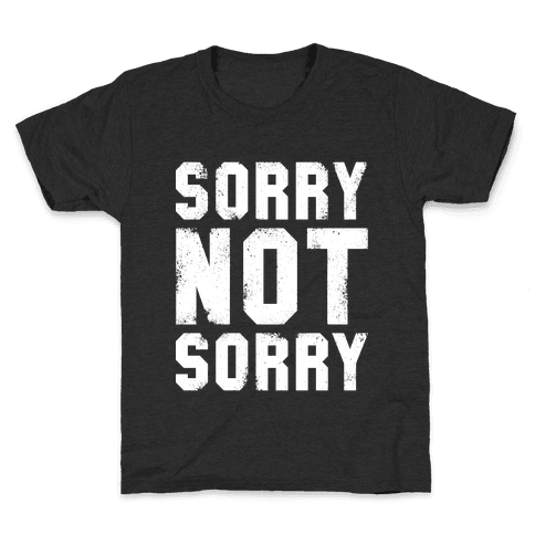 Sorry Not Sorry (White Vintage Tank) Kids T-Shirt