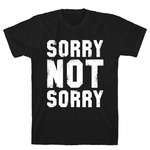 Sorry Not Sorry (White Vintage Tank) Mens T-Shirt