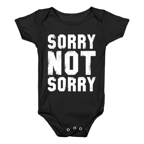 Sorry Not Sorry (White Vintage Tank) Baby Onesy