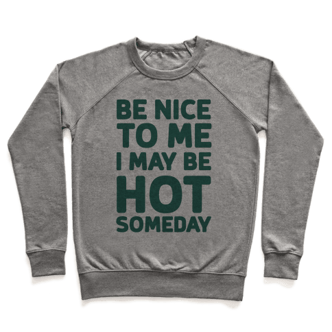 Be Nice To Me I May Be Hot Someday Pullover