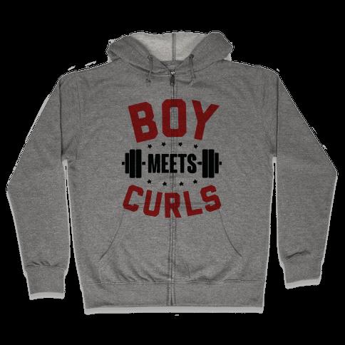 Boy Meets Curls Zip Hoodie