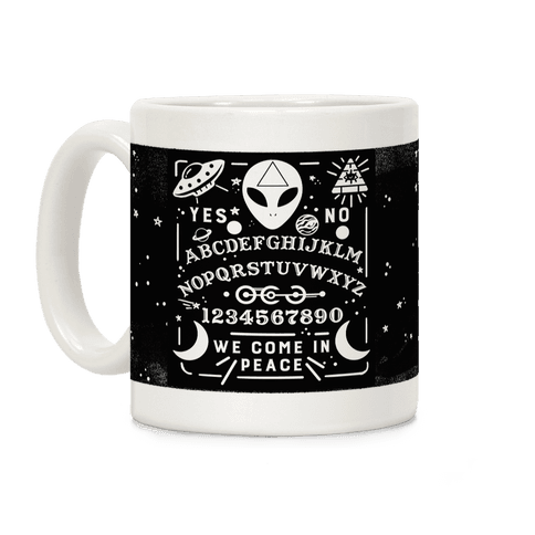 Occult Alien Ouija Board Coffee Mug