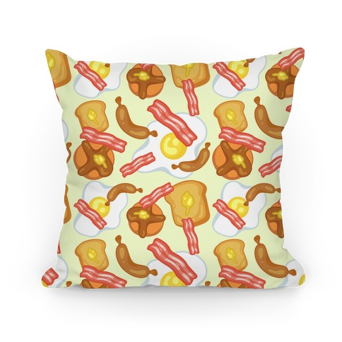 Breakfast Food Pattern Pillow Pillow