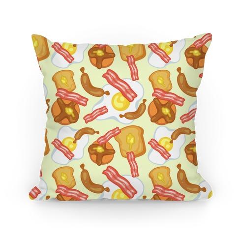 Breakfast Food Pattern Pillow