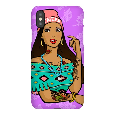 Hipster Pocahontas Phone Case