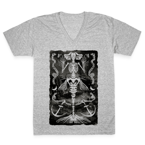 Dead Mermaid V-Neck Tee Shirt