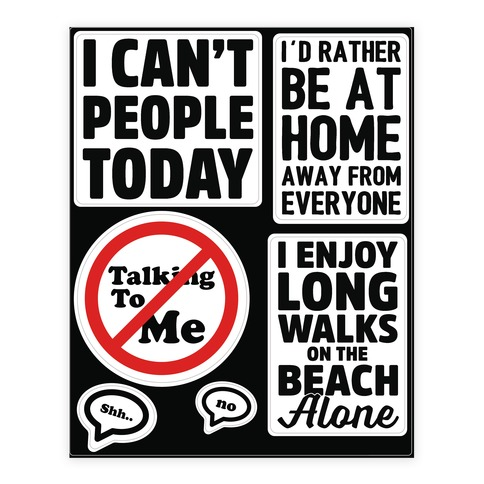 Leave Me Alone Sticker and Decal Sheet