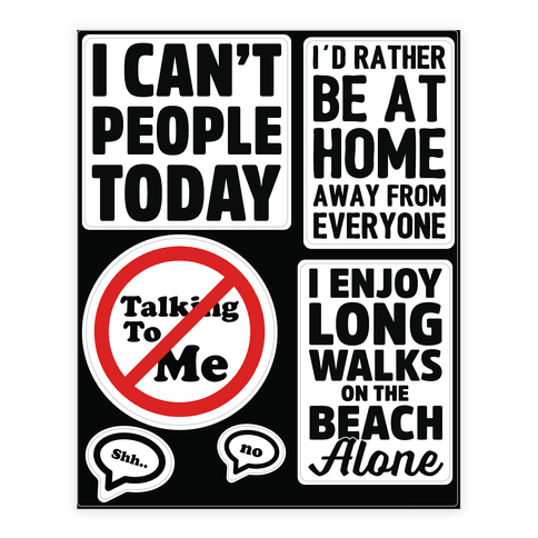 Leave Me Alone  Sticker/Decal Sheet