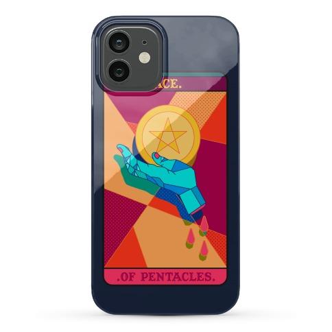 Pentacles Tarot Card Phone Case